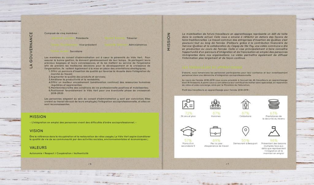 rapport annuel vélo vert